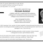 Pechan Rudolf gyászjelentés